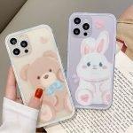 88084-Handmade-Cute-Cartoon-Brown-Teddy-Bear-Purple-Fat-Bunny-Animals-Clear-Transparent-Phone-Case-for-iPhone-78-Plus-se2-X-Xs-XR-XsMax-11-12-13-mini-Pro-Max-1-1