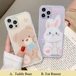 88084-Handmade-Cute-Cartoon-Brown-Teddy-Bear-Purple-Fat-Bunny-Animals-Clear-Transparent-Phone-Case-for-iPhone-78-Plus-se2-X-Xs-XR-XsMax-11-12-13-mini-Pro-Max-1-2