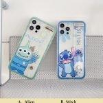 88085-Handmade-Cute-Cartoon-Green-Alien-Blue-Stitch-Animals-with-Belt-Clear-Transparent-Phone-Case-for-iPhone-78-Plus-se2-X-Xs-XR-XsMax-11-12-13-mini-Pro-Max-1-2